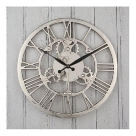 Pacific Lifestyle 75-018 Nickel Cog Design Round Clock