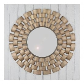 Pacific Lighting 73-001 Woven Design Round Metal Mirror
