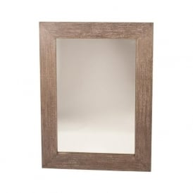 Pacific Lighting 73-019-WV Weathered Vintage Mango Wood Oblong Mirror