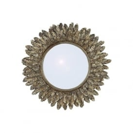 Pacific Lighting 70-173 Poly Resin Round Mirror Gold