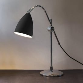 4553 Joel Grande 1 Light Adjustable Table Lamp Black/Polished Chrome