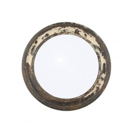 Pacific Lighting 71-193 Antique Wood Round Wall Mirror