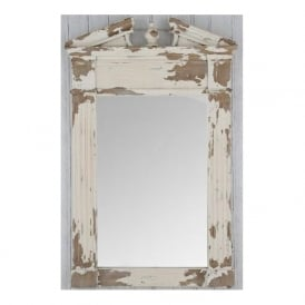 Pacific Lighting 73-017 Antique White Fir Wood and MDF Oblong Wall Mirror