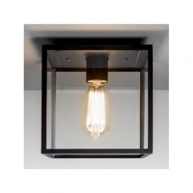 7389 Box 1 Light Outdoor Flush Ceiling Light Black