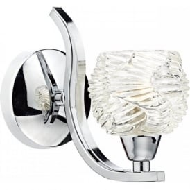 FUE0750 Fuego 1 Light Switched Wall Light Polished Chrome