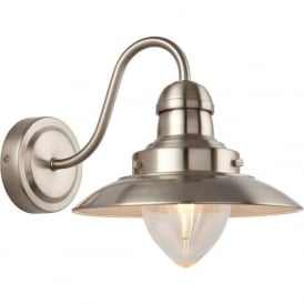 60800 Mendip 1 Light Wall Light Satin Nickel