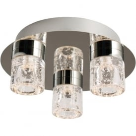 61359 Imperial 3 Light LED Flush Ceilling Light IP44 Polished Chrome