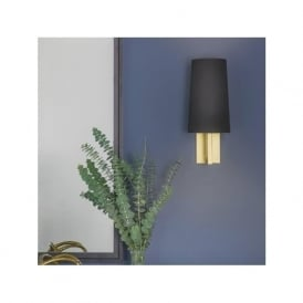 7570 Riva 350 Wall Light Matt Gold with Shade