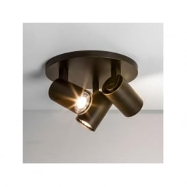6146 Ascoli Triple Round 3 Light Spotlight Bronze