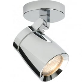 39166 Knight 1 Light Spotlight IP44 Polished Chrome