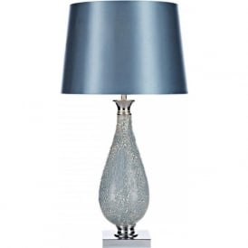 HOG4223 Hogan 1 Light Mosaic Table Lamp Polished Chrome Blue