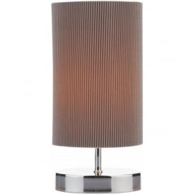 Dar LEO4129 Leo 1 Light Touch Table Lamp Polished Chrome