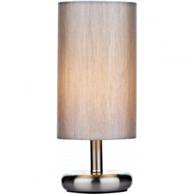 Dar TIC4139 Tico 1 Light Touch Table Lamp Satin Chrome