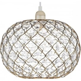 JUA6535 Juanita Non Electric Pendant Small Gold