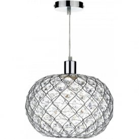 JUA6550 Juanita Non Electric Pendant Small Polished Chrome