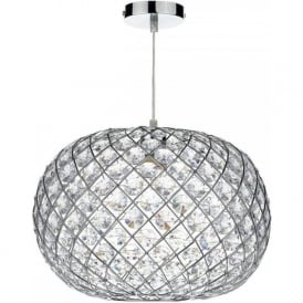 JUA8650 Juanita Non Electric Pendant Large Polished Chrome