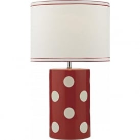 POM4325 Pompom Table Lamp Red and White