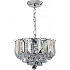 FARGO-12CH 3 Light Modern Ceiling Light Chrome Plated Finish (Small)