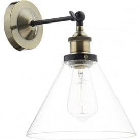 RAY0775 Ray 1 Light Wall Light Antique Brass