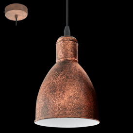 49492 Priddy1 1 Light Pendant Antique Copper