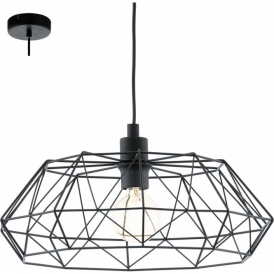 49487 Carlton2 1 Light Ceiling Pendant Black