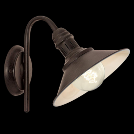 49458 Stockbury 1 Light Wall Light Antique Brown