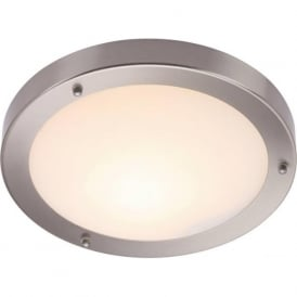 12421 Portico Flush Ceiling Satin Nickel IP44