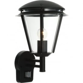 49946 Inova PIR 1 Light Outdoor Wall Light Matt Black IP44