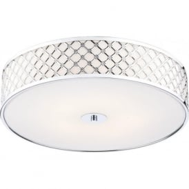 CIV5250 Civic 2 Light Flush Ceiling Light Polished Chrome