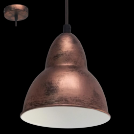 49235 Truro 1 Light Ceiling Pendant Antique Copper