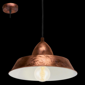 49243 Auckland 1 Light Ceiling Pendant Antique Copper