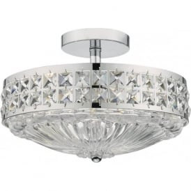 OLO5350 Olona 3 Light Semi Flush Ceiling Light Polished Chrome