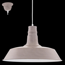 49399 Somerton1 1 Light Ceiling Pendant Taupe-Structured Large