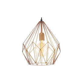 49258 Carlton 1 Light Ceiling Pendant Copper