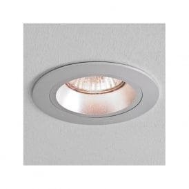 5671 Taro Round Fire Resistant Fixed Interior Down Light Brushed Aluminium