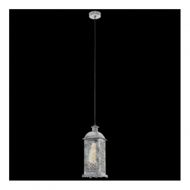 49216 Lisburn1 1 Light Ceiling Lantern Antique Silver