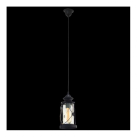 49213 Bradford 1 Light Ceiling Lantern Black