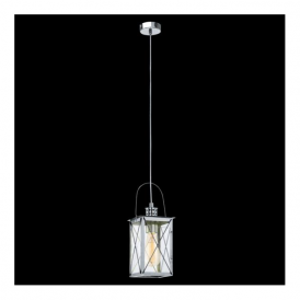 49212 Donmington 1 Light Ceiling Lantern Polished Chrome