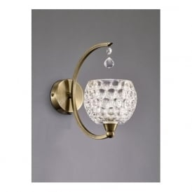 FL2340/1 Omni 1 Light Switched Wall Light Bronze