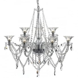 EMM1350 Emma 9 Light Chandelier Polished Chrome