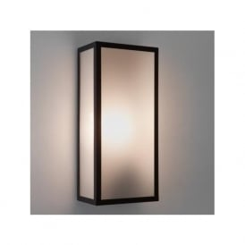 7355 Messina Sensor Frosted 1 Light Outdoor Wall Light Black