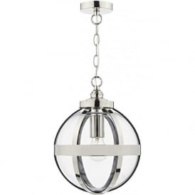 HEA0138 Heath 1 Light Pendant Polished Nickel
