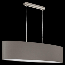 31587 Pasteri 2 Light Pendant Anthracite/Brown