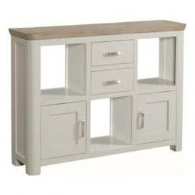 10506 Treviso Painted Oak Low Display Unit Stone Painted