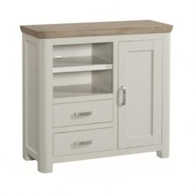 10505 Treviso Painted Oak Media Unit Stone Painted