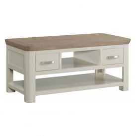 10511 Treviso Painted Oak Small Coffee Table Stone Painted