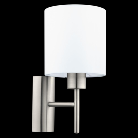 94924 Pasteri 1 Light Switched Wall Light White
