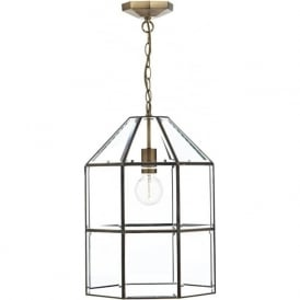 CAC0175 Cachette 1 Light Lantern Antique Brass