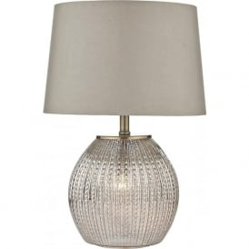SON4232 Sonia 2 Light Table Lamp Antique Silver