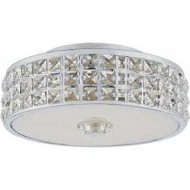 REP5250/LED Repton LED Flush Ceiling Light Polished Chrome